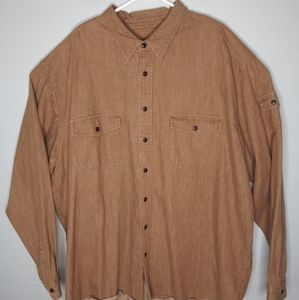 Eddie Bauer Long Sleeve Denim Button Front Shirt